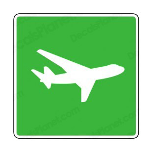 Airplane sign listed in road signs decals.