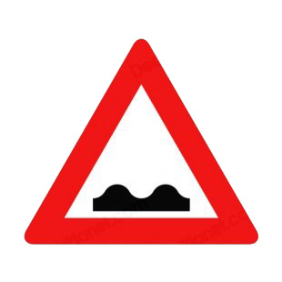 Bump warning sign listed in road signs decals.