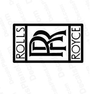 rolls royce logo famous logos decals decal sticker 861. Black Bedroom Furniture Sets. Home Design Ideas