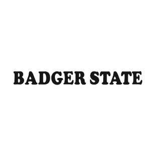 Badger state Wisconsin state listed in states decals.