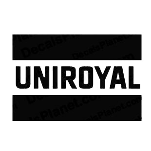 Uniroyal logo listed in famous logos decals.