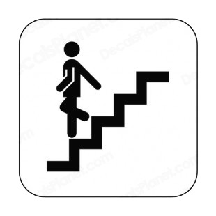 Item 8663 Stairs Down Sign