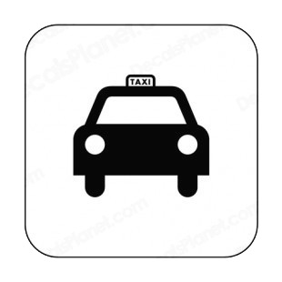 Taxi sign listed in other signs decals.