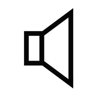 Image result for speaker SIGN