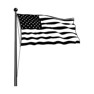 Item 8762 United States Flag On A Pole Waving