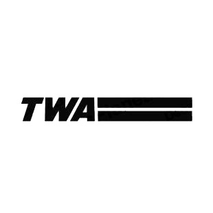 TWA logo listed in famous logos decals.