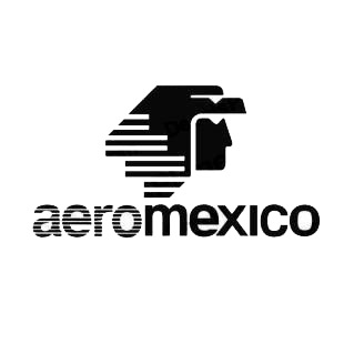 Aero mexico logo listed in famous logos decals.