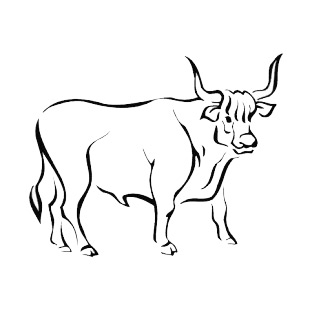 Bull listed in more animals decals.
