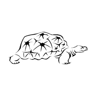 Tortoise with fierce look listed in more animals decals.