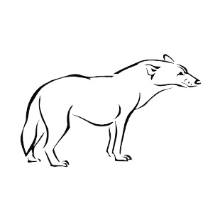 Hyena listed in more animals decals.