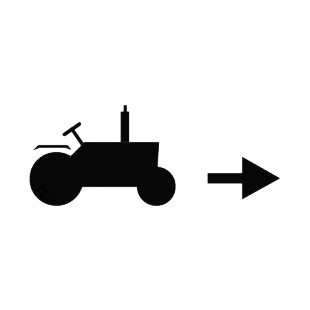 Tractor going forward listed in agriculture decals.