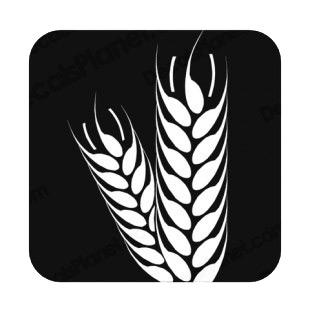 Agriculture symbol listed in agriculture decals.
