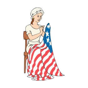 United States Betsy Ross Sewing American Flag Symbols And