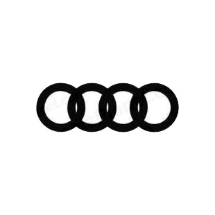 Audi rings listed in audi decals.