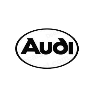 Audi oval listed in audi decals.