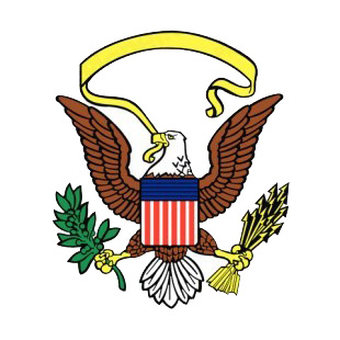 United States eagle logo listed in symbols and history decals.