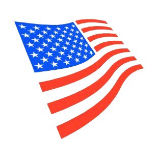 United States flag listed in american flag decals.