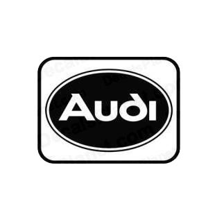 Audi oval border listed in audi decals.