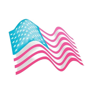 United States flag waving listed in american flag decals.