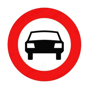 No Motor Vehicles Allowed Sign Road Signs Decals Decal Sticker 9554