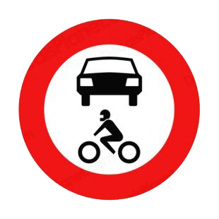No Motor Vehicles Or Motorcycles Sign Road Signs Decals Decal Sticker 9555