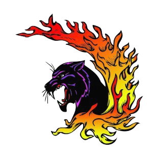 Angry purple lynx flames drawing listed in more animals decals.
