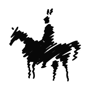 Native American On A Horse Silhouette Symbols And History
