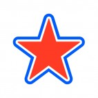 United States Red and blue star, decals stickers