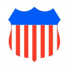 United States shield logo, decals stickers