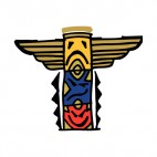 Native American totem pole, decals stickers