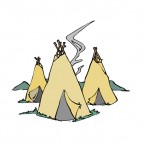 Native American teepees, decals stickers