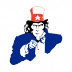 Unites States Uncle Sam i want you, decals stickers
