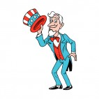 United States Uncle Sam holding hat, decals stickers