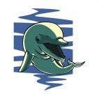 Dolphin with mouth open, decals stickers