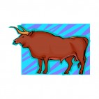 Brown bull, decals stickers