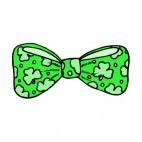 Bow tie with shamrocks, decals stickers