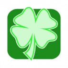Four leaf clover, decals stickers