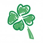 Four leaf clover drawing, decals stickers