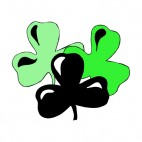Black and green shamrocks, decals stickers