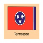 Tennessee state flag , decals stickers