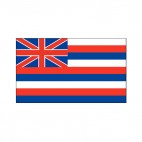 hawai state flag, decals stickers