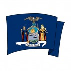 New York state flag waving, decals stickers