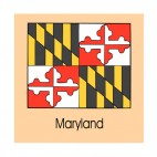 Maryland state flag, decals stickers