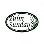 Palm sunday logo, decals stickers