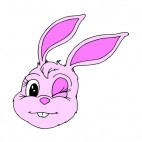 Bunny winking, decals stickers