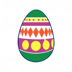 Multi colored easter egg with yellow spots, decals stickers