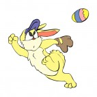 Bunny catching easter egg, decals stickers