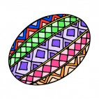 Multi colored easter egg, decals stickers