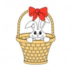 With bunny in a basket with a red buckle, decals stickers