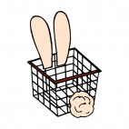Bunny basket, decals stickers
